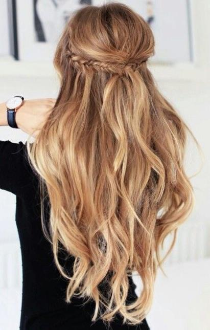 Half up half down hairstyle 3