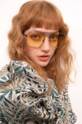 Crimped hair with bangs
