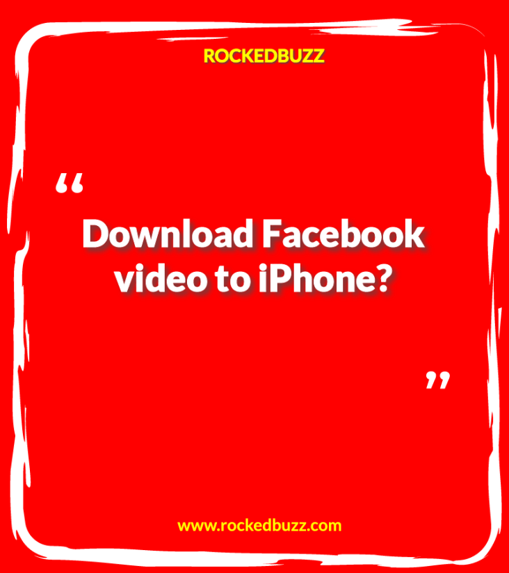 Facebook video to iPhone