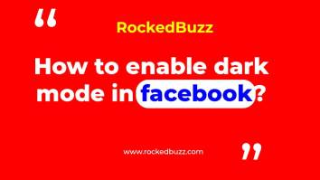 Dark mode in facebook