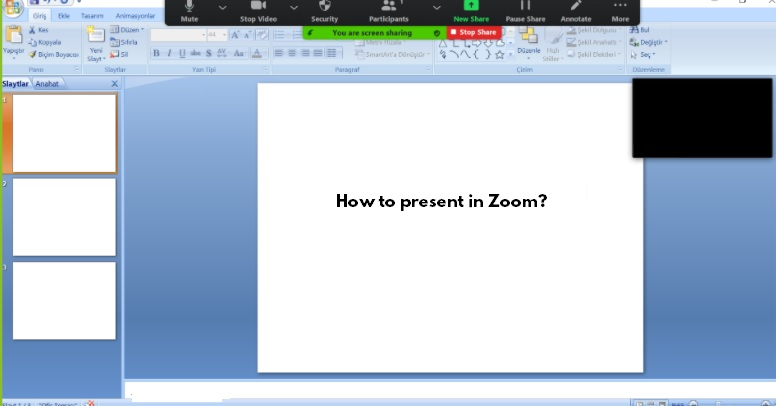 How to present in Zoom