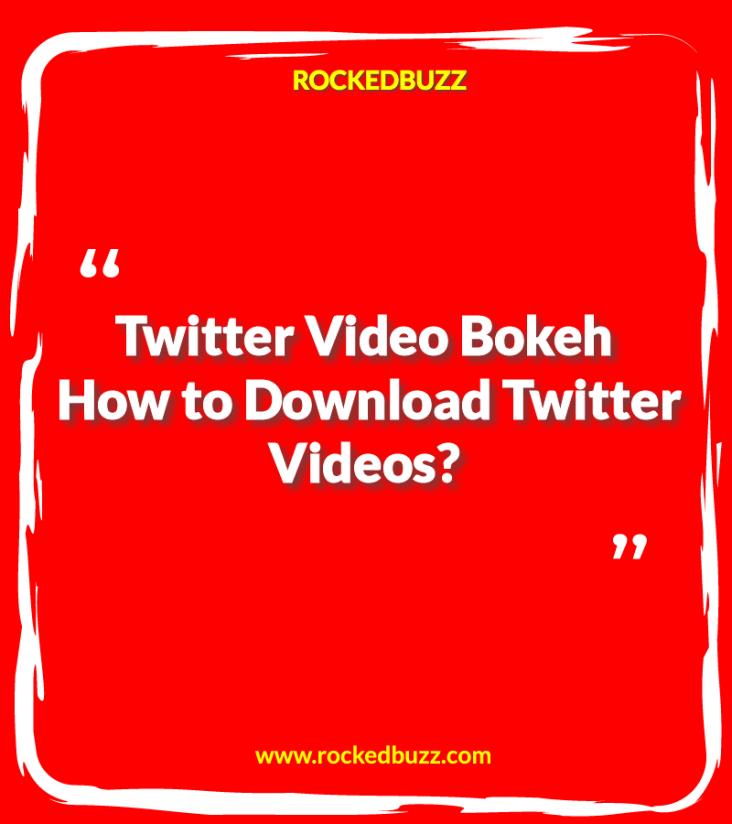 Twitter Video Bokeh