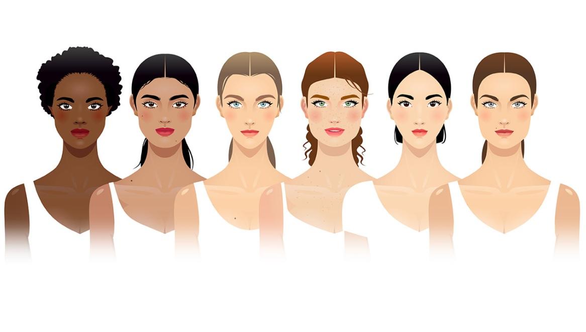 Female face shapes