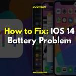 Fix iOS 14 Battery