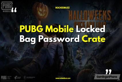 PUBG Mobile Locked Bag Password Crate