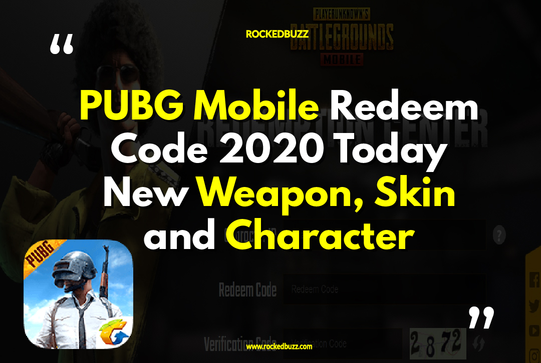 PUBG Mobile Redeem Code 2020 Today New Weapon, Skin and ...