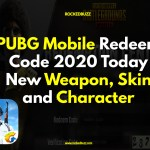 PUBG Mobile Redeem Code 2020 Today New Weapon