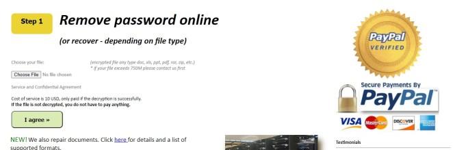 Remove Password Online