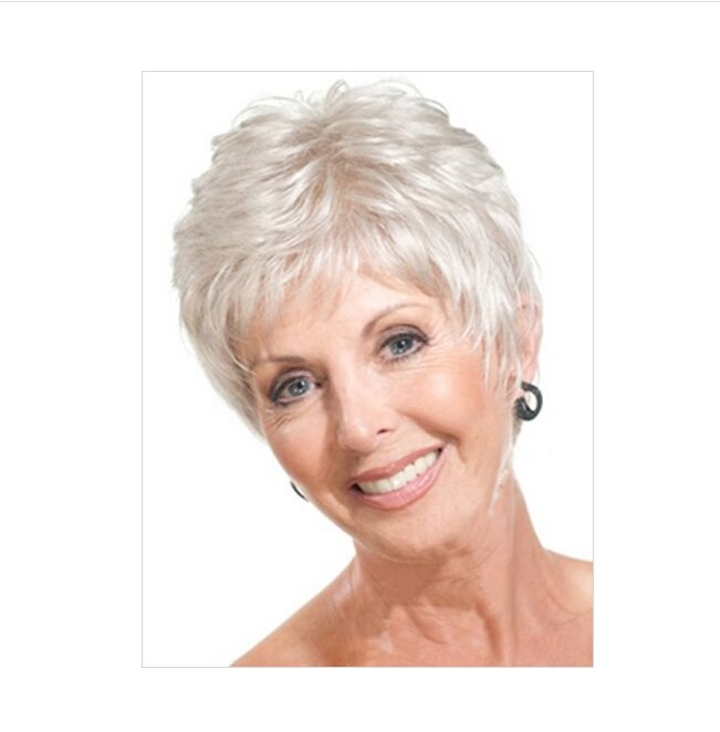 short hair styles for women Old woman