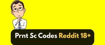 Prnt Sc Codes Reddit 18 RB