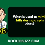 What is used to mimic hills during a spin class?