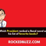 Which President ranked a Bond novel on his list of favorite books?