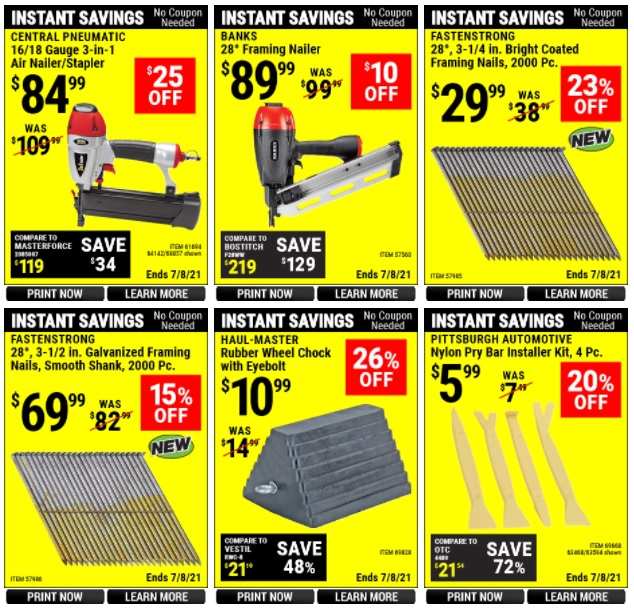 Harbor Freight Coupon June 2021