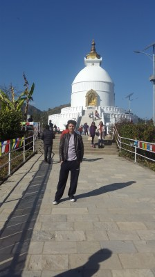 Me, and the Peace Pagoda in the background