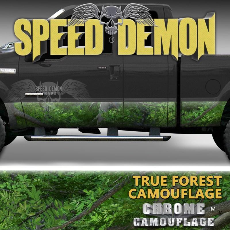 True Forest camouflage Rocker Panel Wraps