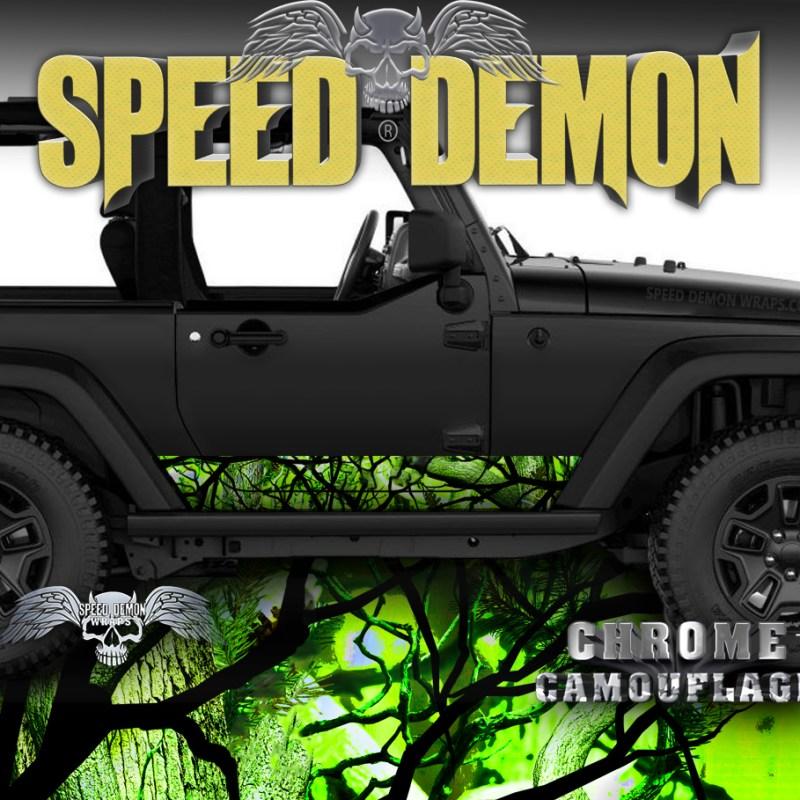 1997-2017 Jeep Wrangler Rocker-Wraps Camouflage Zombie-Bile