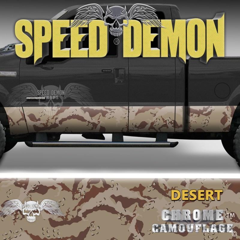 Desert Camo Camouflage Rocker Panel Wraps