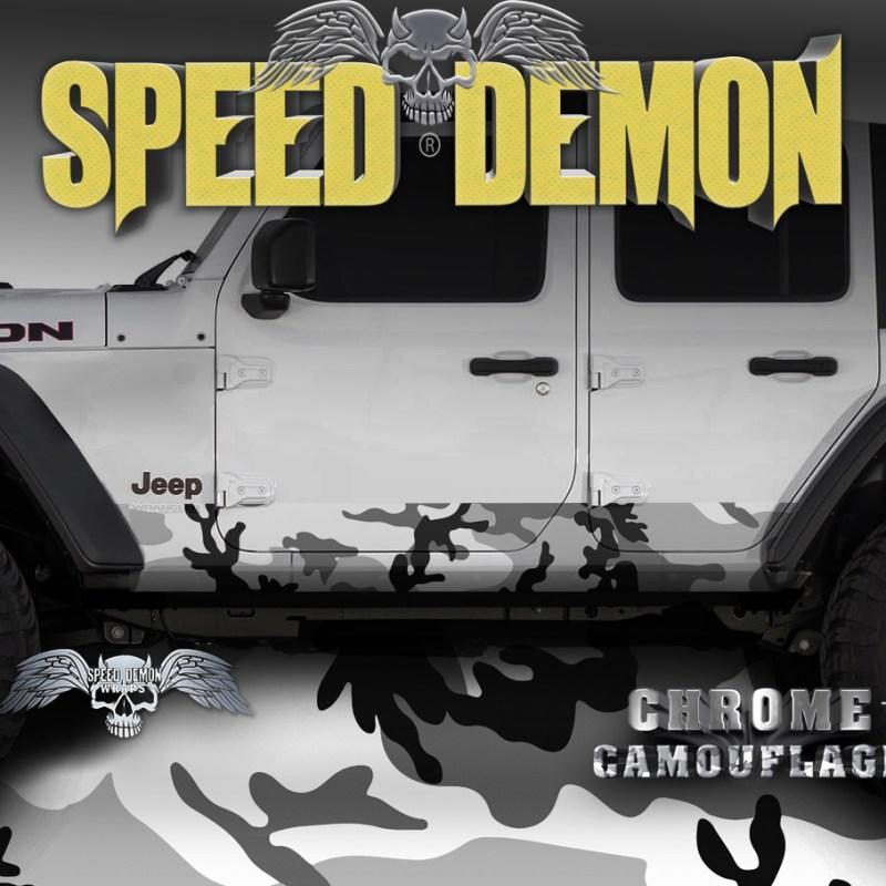 Jeep Wrangler Rocker Wraps camo Snow Urban-Camouflage