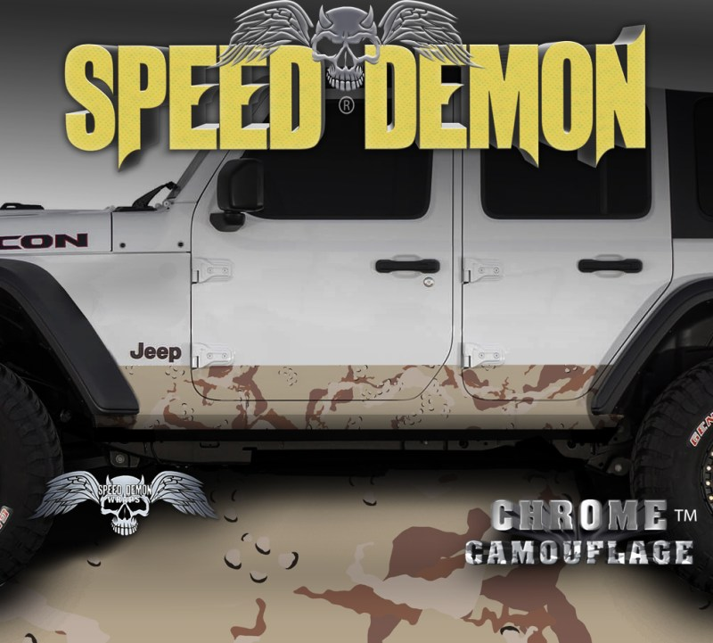 JK Jeep Rocker Camo-Wrap Desert Camouflage