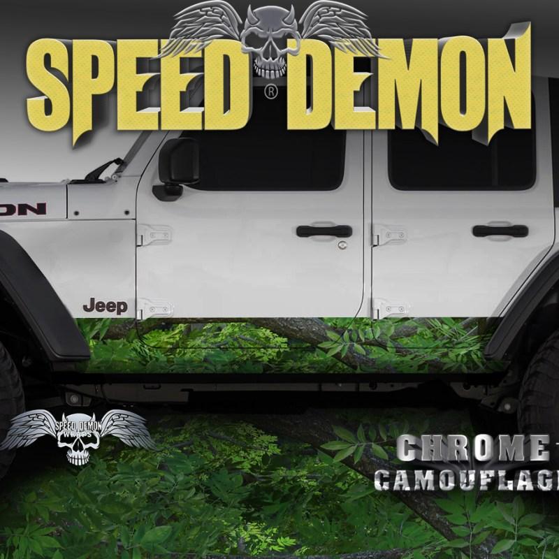 Jeep Wrangler Rocker Wraps camo Forest Camouflage
