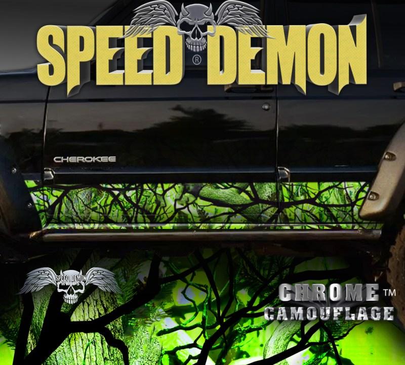 Jeep Cherokee Rocker Panel Camo Wrap Zombie Bile Camouflage