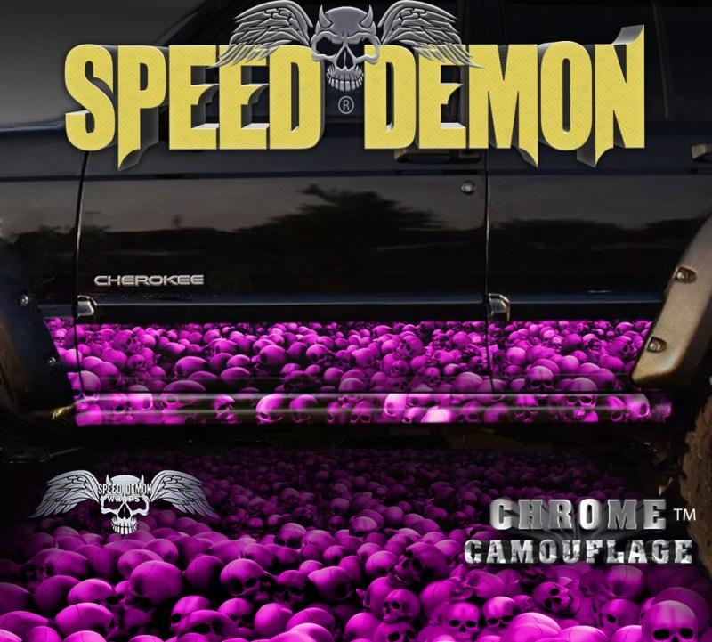 Jeep Cherokee Rocker Panel Wraps Skulls Pink