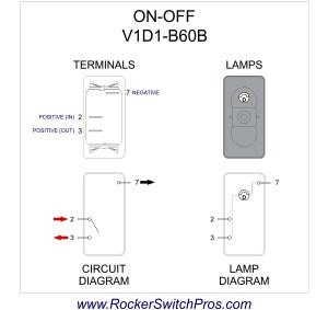 Rocker Switch | ONOFF | SPST | 1 dep light | V1D1