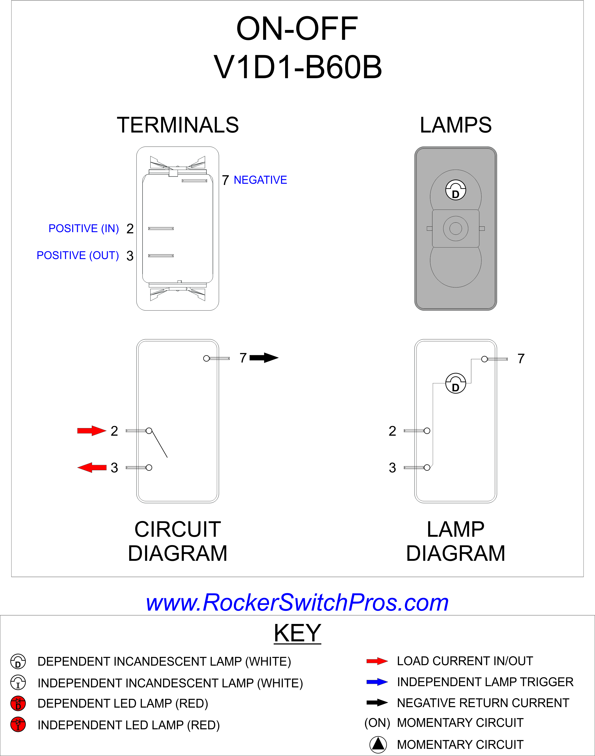 V1D1 B60B_RSP 110 volt lighted rocker switch wiring diagram dolgular com r13 112 switch wiring diagram at edmiracle.co