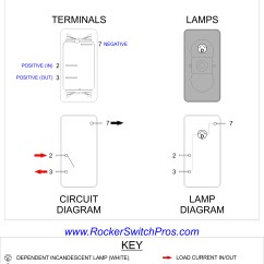 6 Pin Rocker Switch Wiring Diagram Consort Template On Off Spst 1 Dep Light V1d1