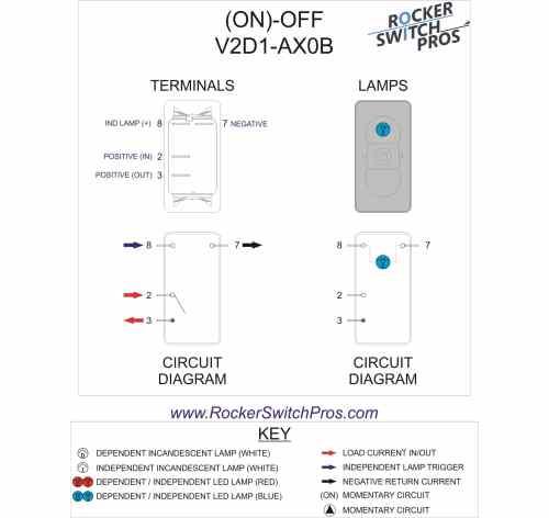 small resolution of momentary blue light rocker switch