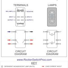 Illuminated Rocker Switch Wiring Diagram Century Ac Motor 115 230 Volts Carling Lighted