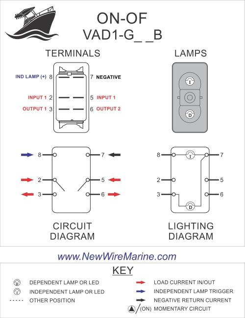 small resolution of home switch bodies white lamps vad1 g66b