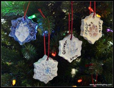 DIY Paw Print Ornaments