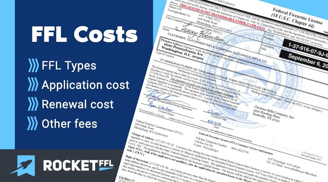 How Much Does an FFL Cost?