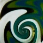 White Green/Blue Multi