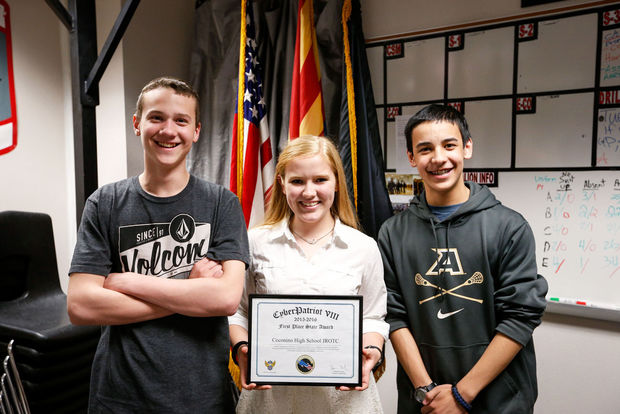 High school freshmen earn awards for cybersecurity contest