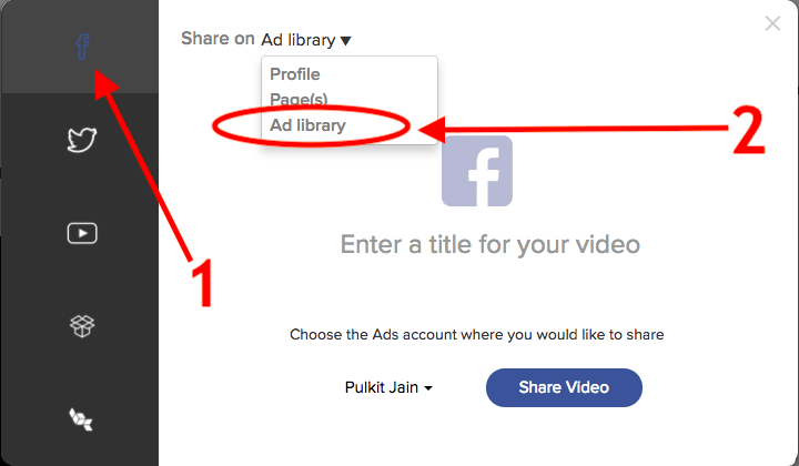 Sharing your video ad to facebook's ad library