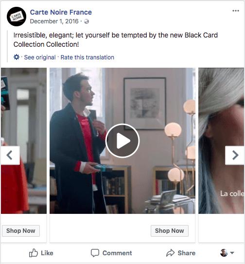 Βίντεο μεγέθους διαφημίσεων καρουσέλ στο facebook