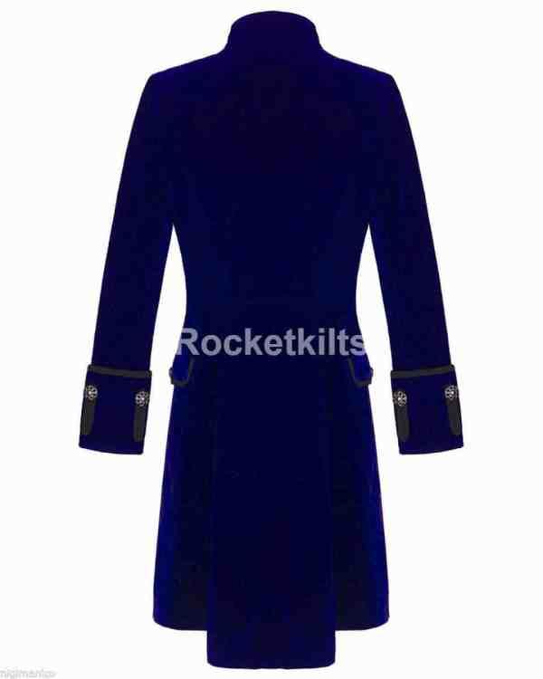 modern frock coat,gothic frock coat, gothic frock coat men's,mens frock coat uk,blue velvet coat