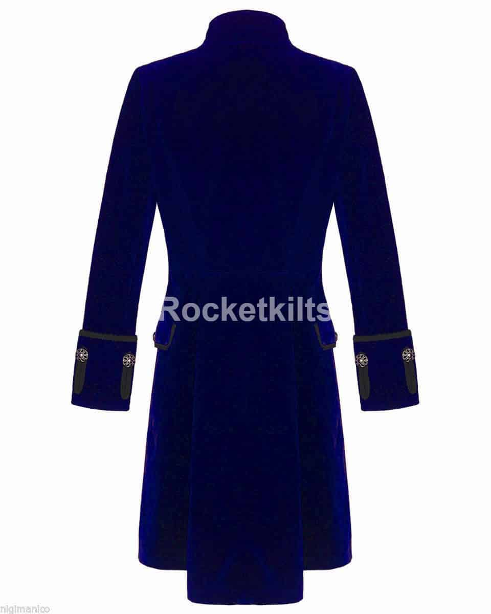 modern frock coat,gothic frock coat, gothic frock coat men's,mens frock coat uk,blue velvet coat