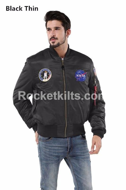 MA-1 NASA letterman varsity american ollege bomber flight jacket for MAN COAT