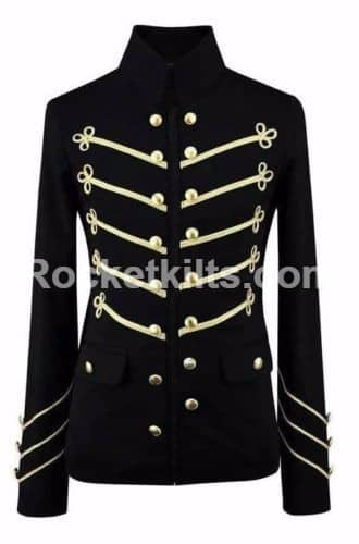 gold embriodry jacket, black military jacket,Embroidery Military jacket,gothic military jacket, military jacket mens, mens gothic jacket