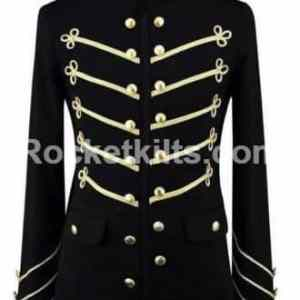 gold embriodry jacket, black military jacket,Embroidery Military jacket,gothic military jacket, military jacket mens, mens gothic jacket