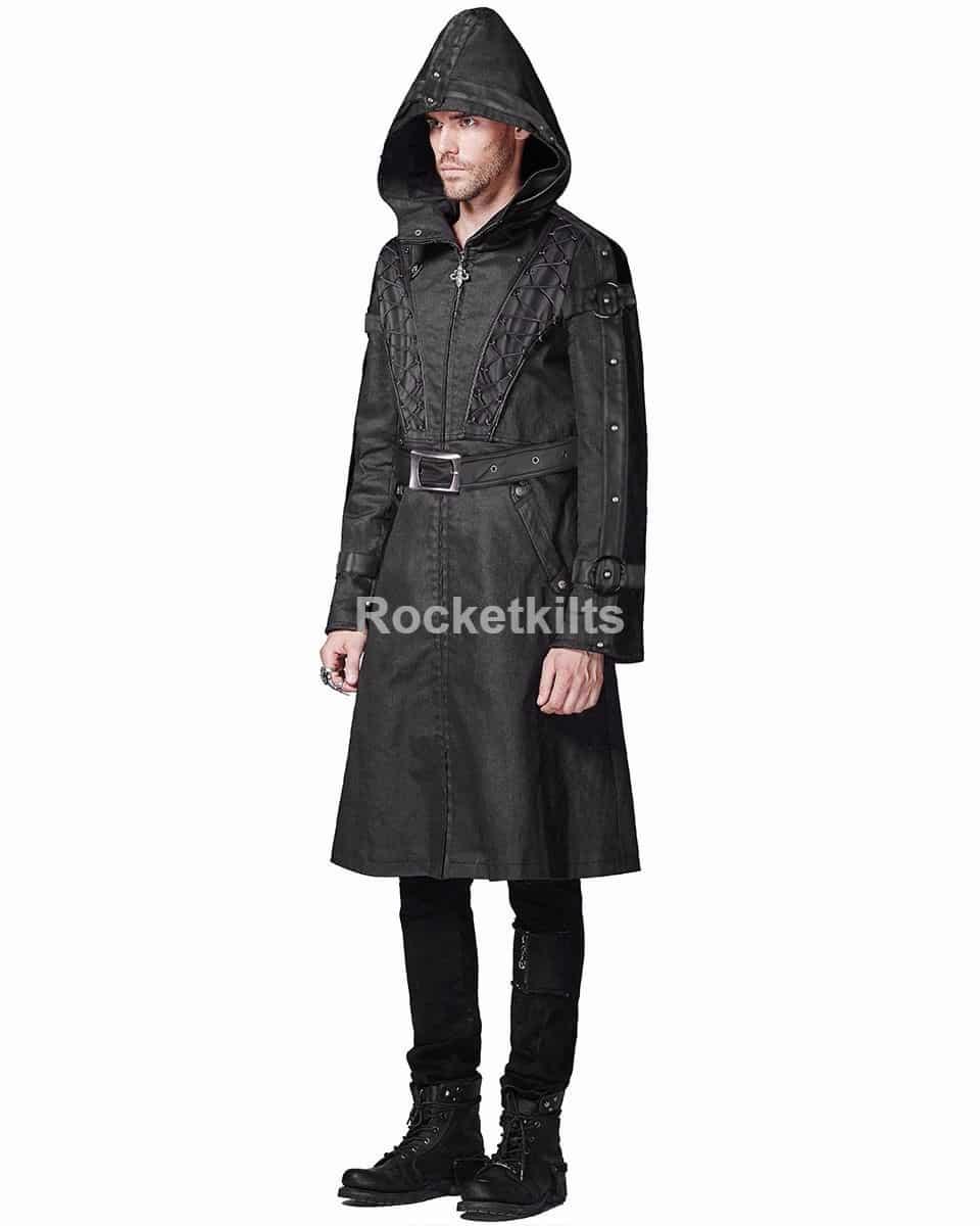 long hooded jacket,long hooded jacket,long hooded coat mens,gothic coats, gothic jackets
