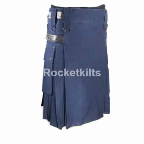 navy blue kilt