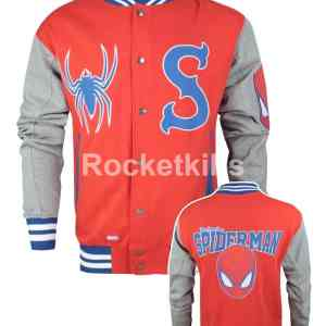 spiderman jacket,official varsity jacket,
