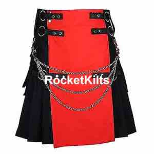 Red and Black Kilt, Utility Kilts,Fashion Kilts,utility kilt, red kilt men, men's utility kilt, modern kilt