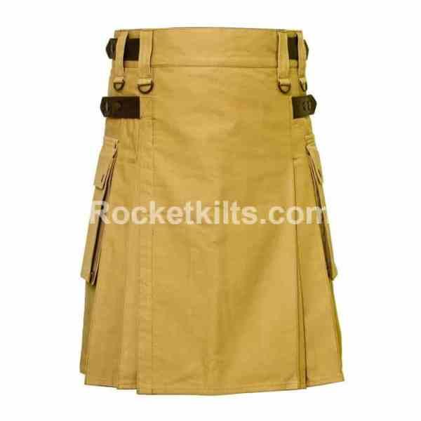 khaki kilts,khaki kilt,mens utility kilt, utility kilt, kilt buy, kilt sale, kilt for sale, casual kilt