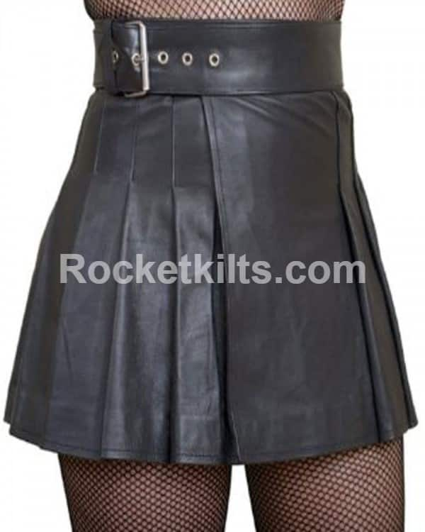 Leather Kilt Women