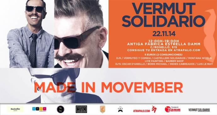 Vermut Solidario Movember 2014